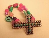 Peace & Cross Bracelet