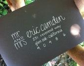 Wedding Calligraphy Envelopes & Invitations