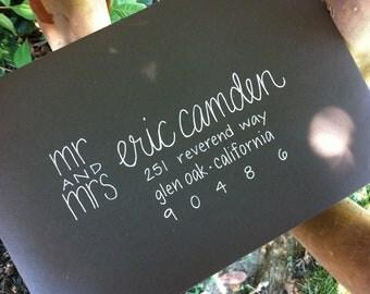 Envelope Addressing / Calligraphy for Envelopes / Professional Calligrapher / Addressing Envelopes / Wedding Envelope Address