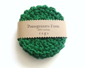 Crochet Coasters - Scrubbies - Green - Set of Four - pomegranatefarm