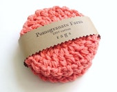 Crochet Coasters - Scrubbies - Coral - Set of Four