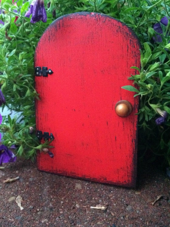 Fairy door fairy garden christmas gift gifts for her for Red elf door