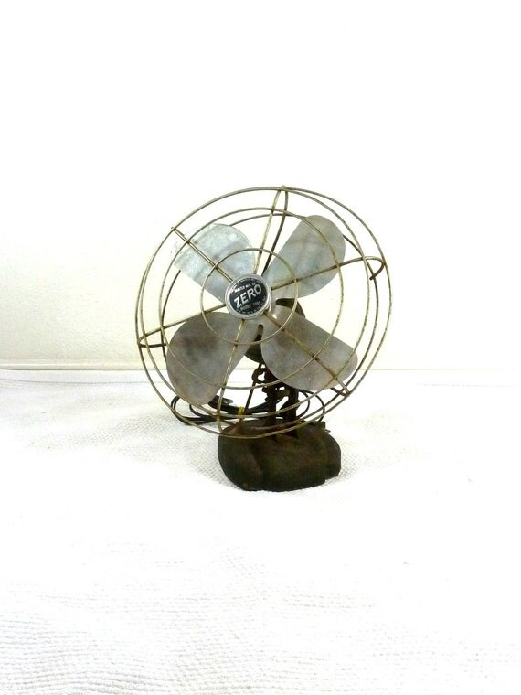 Vintage Metal Fan // Bersted Manufacturing Company Zero Model