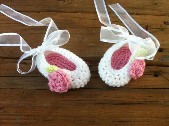 Crochet Photo Prop Ballet Booties, Ballerina Booties, Rose Booties, Pink Booties, Baby Shower Gift, Ballerina Costume, Ballerina Outfit