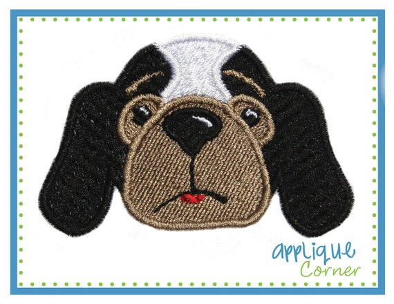 632 Hound dog filled mini embroidery design in sizes 1, 1 1/2, 2, 2 1/2, 3 inchs digital for machine by Applique Corner