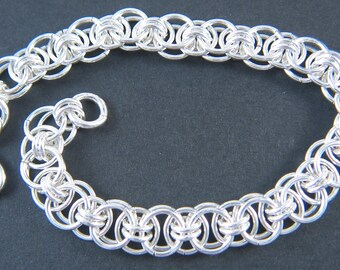 Sterling Silver Helm Chain Bracelet