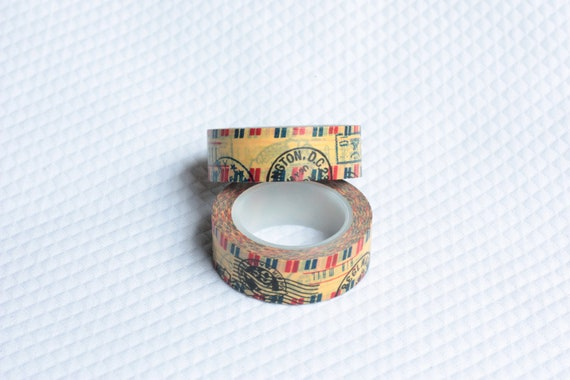 Whimsy Washi Vintage Postage Tape Scrapbooking Deco Tape JapaneseD
