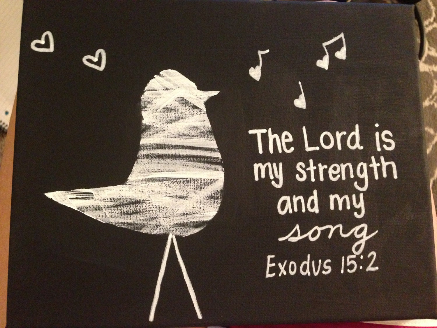 Exodus 152 Painting The Lord Is My Strength By