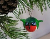 Clay bird ornament - hummingbird ornament sculpture - strong and light handpainted, handsculpted ornament