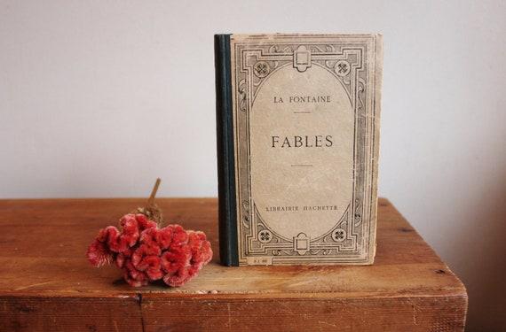 Antique French Poetry Book / Jean de la Fontaine's 'Fables'