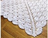 Crochet baby blanket Baby Girl Blanket and Baby Boy blanket - Snow White afghan white blanket Made to order