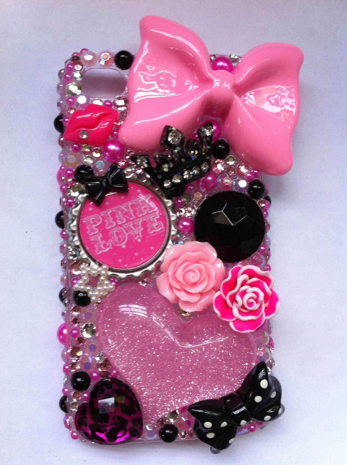 Victorias Secret Pink iPhone 4/4g/4s bling case