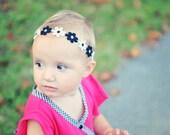 Black And White Flower Headband, Baby Headband, Newborn Headband, Headband, Toddler Headband, Infant Headband, Photo Prop