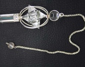 New Healing Crystal 3 Pieces Star pendulum With Crystal Pagan ET A7