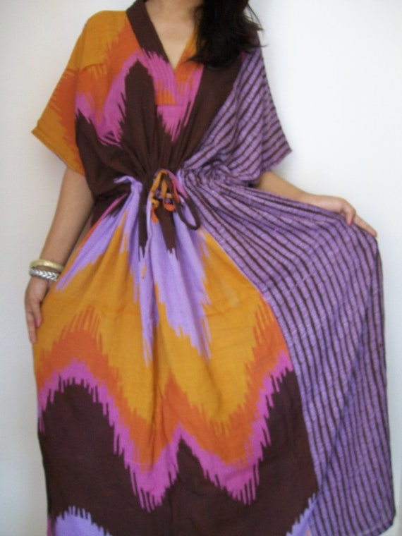 Colorful kaftan , Caftan, Perfect long dress, Spa Robe, For to be Moms, beach cover up, Sleepwear, Best Gift for her