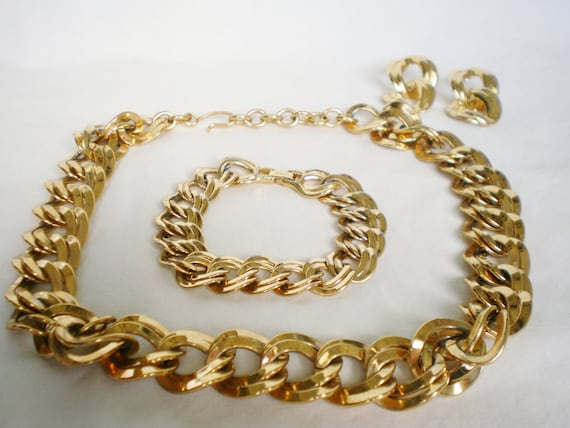 Is Monet Jewelry Real >> Vintage Monet Jewelry Set Signed 1970s by JamandJellyVintage
