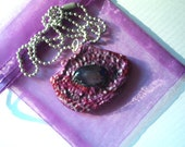 Purple and Magenta Reptile Eye Necklace on ball chain