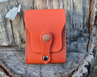 Leather Wallet-Men Wallet-Leather Card Holder Leather-Handmade Terracotta