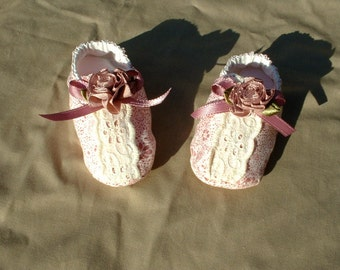 Charming baby booties