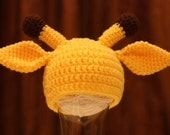 PDF Pattern 4 Giraffe Crochet Hat for Baby - TCY003