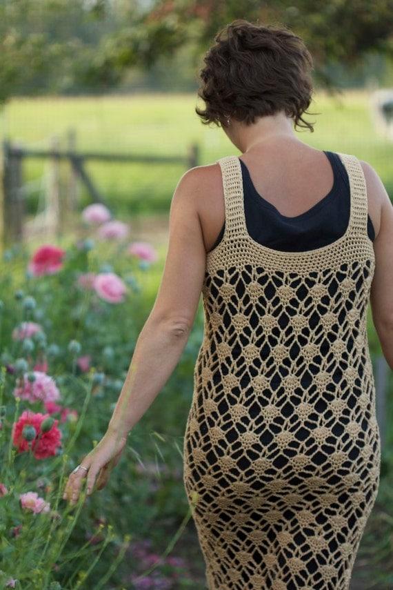 Gatsby Dress Spring Dress Pattern PDF Downloadable Crochet Flapper Dress Pattern PDF Crochet Sheath Dress Pattern Summer Dress Pattern