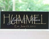 Personalized Wedding Last Name Signs. Wood Signs, Established Date. Great for Wedding Gifts, Bridal Shower or Anniversary