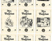 INSTANS DOWNLOAD Digital Collage sheet Vintage Alice in Wonderland cards no. VC0039