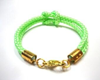 Climb rope bracelet in neon green