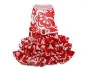 Ruffled Coral Dog Dress (size Small)