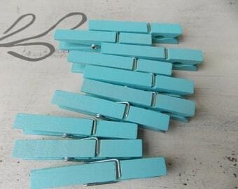 blue ocean breeze clothespins