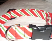 Candy Cane Christmas Collar- Large