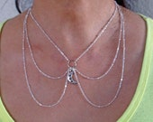 Silver Moon Chain Collar - Special Order for Kirstin