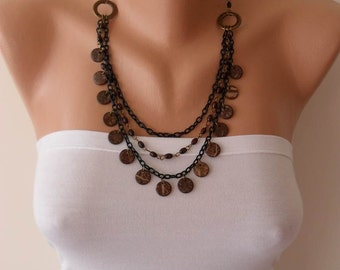 Brown Necklace with Wooden Beads- Speacial Design