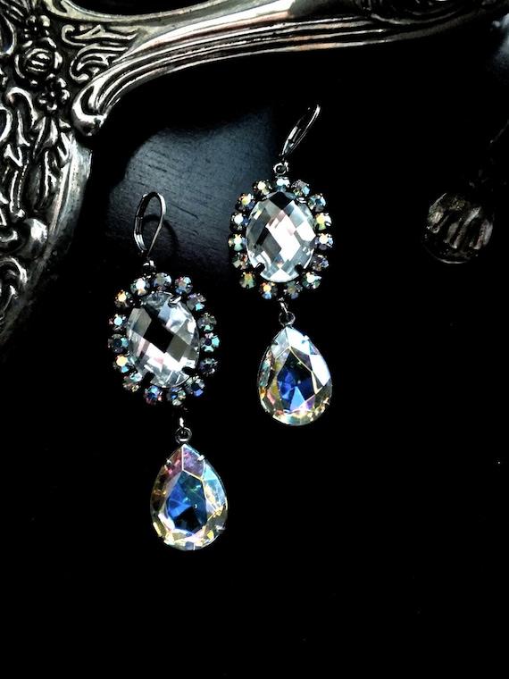 Amanda Drop Crystal Earrings