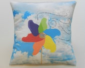 Pinwheel and the Wind Decorative Throw Pillow
