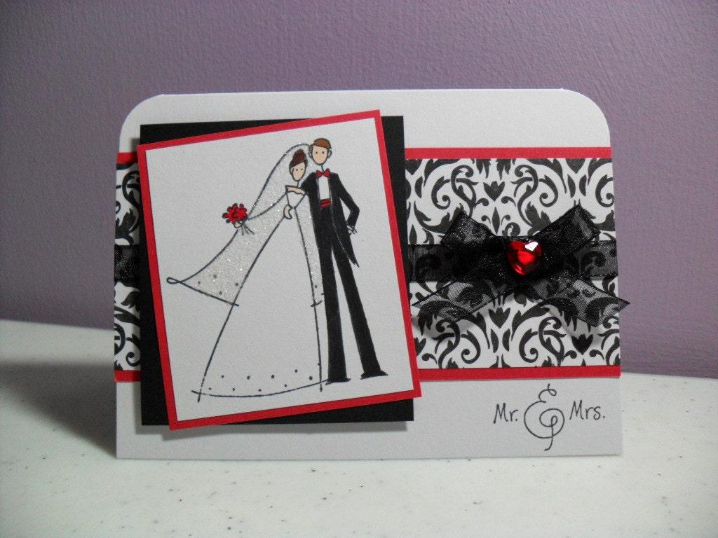 CLEARANCE Handmade Wedding Card Congratulations Bride