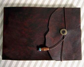 Medium, Refillable, Leather Sketchbook, Natural Edge, Sketchbook -  Drawing Book, Art Journal, Leather Journal, Notebook, Guest Book