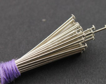Sterling Silver 1 inch Head Pin 24 GA -  1.2-1.25 mm Head Diameter,1 Pack of 100 Pieces, (SS/H24/100)