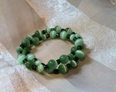 Fresh Eyes Green Cats Eye Necklace or Bracelet