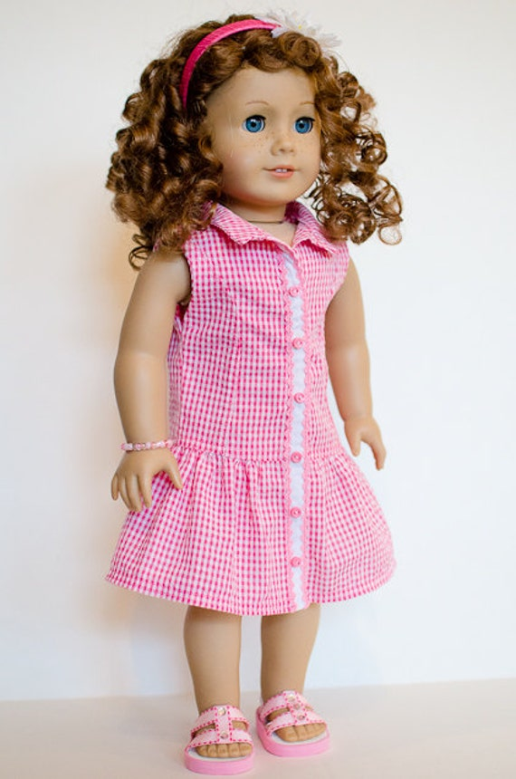 30% OFF-Free Shipping--American Girl Summer Dress with Bracelet and Headband