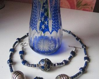 Symphony in Blue: necklace  and bracelet