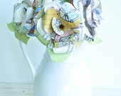 Book Page Flowers Paper flower bouquet