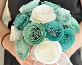 Bridal Bouquet Paper flower Bouquet Bridesmaid bouquet alternative bouquet
