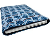 "13"" Macbook Corduroy Sleeve with Flower Pattern in Blue Color"