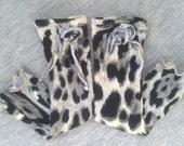 Girls Knit Leg Warmers.  Child size.  Animal print. READY TO SHIP. (lilhootbrand) Black Friday Etsy - Cyber Monday Etsy
