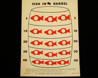 Vintage Fish in a Barrel Target by Crosman Arms