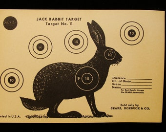 Vintage Jack Rabbit Target no. 11 by Sears