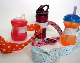 SALE - Bottle/Sippy Cup Leash - Choose any 3 Sippy Cup Leashes and Save