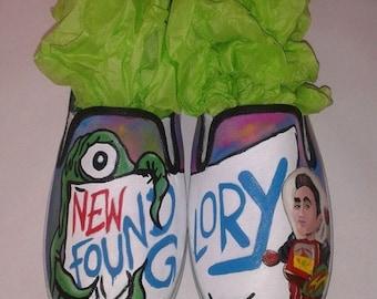 Custom Hand Painted New Found Glory Slip Ons