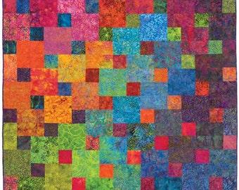 "Xanadu Quilt Pattern Designs by jb Quilting Great for Batiks or Solids DIY 68"" x 88"""